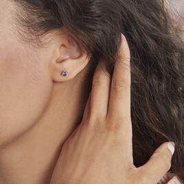 Boucles D'oreilles Puces Argent Rhodié Dwight Oxydes De Zirconium - Boucles d'oreilles fantaisie Femme   Histoire d'Or