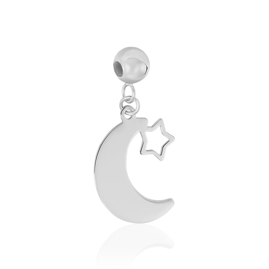 Charms Hinano Or Blanc - Pendentifs Etoile Femme   Histoire d'Or