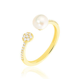 Bague Madeline Or Jaune Perle De Culture - Bagues avec pierre Femme | Histoire d'Or