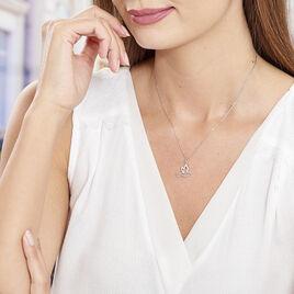 Collier Colombe Argent Blanc Oxyde De Zirconium - Colliers fantaisie Femme | Histoire d'Or