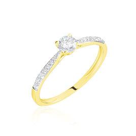 Bague Solitaire Laetitia Or Jaune Diamant - Bagues avec pierre Femme   Histoire d'Or