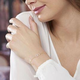 Bracelet Klothilda Or Jaune Oxyde De Zirconium - Bracelets Infini Femme   Histoire d'Or