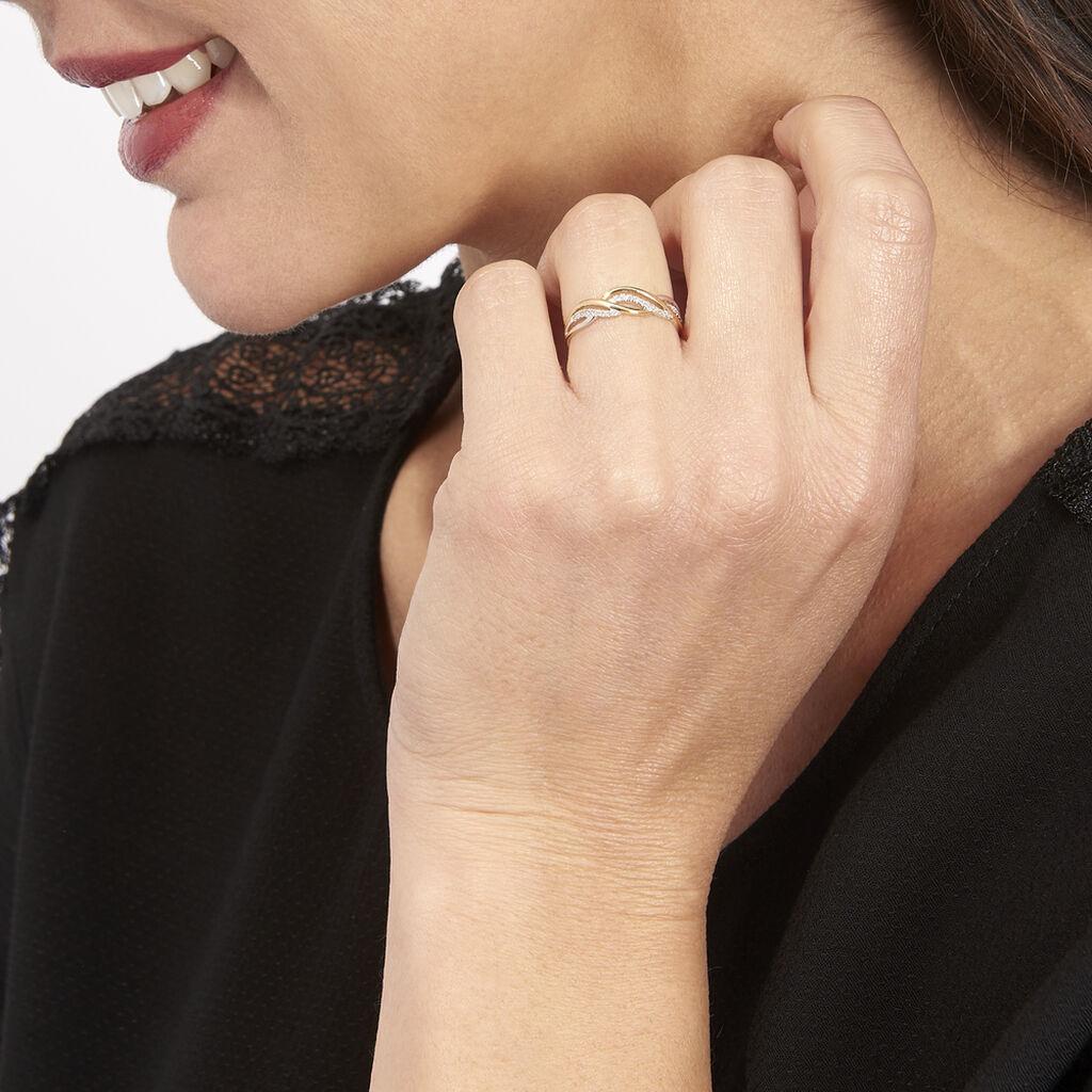 Bague Or Jaune Romane Diamants - Bagues avec pierre Femme | Histoire d'Or