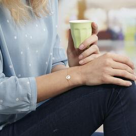 Bracelet Or Jaune Flauriane Oxyde - Bracelets Lune Femme | Histoire d'Or