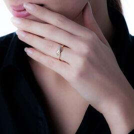 Bague Ester Or Jaune Diamant - Bagues avec pierre Femme   Histoire d'Or