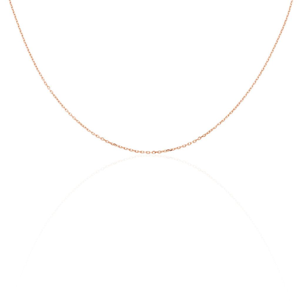 Chaîne Igoa Maille Forçat Diamantee Or Rose - Chaines Femme   Histoire d'Or
