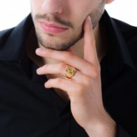 Chevalière Or Jaune Forme Tonneau - Chevalières Homme   Histoire d'Or
