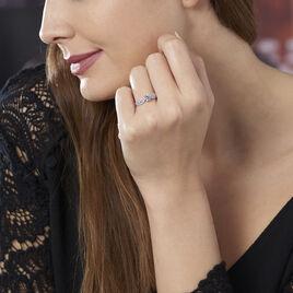 Bague Solitaire Sarah Or Blanc Oxyde De Zirconium - Bagues avec pierre Femme | Histoire d'Or