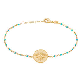 Bracelet Ranya Plaque Or Jaune - Bracelets fantaisie Femme | Histoire d'Or