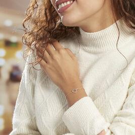 Bracelet Elanda Argent Rose Oxyde De Zirconium - Bracelets Coeur Femme   Histoire d'Or
