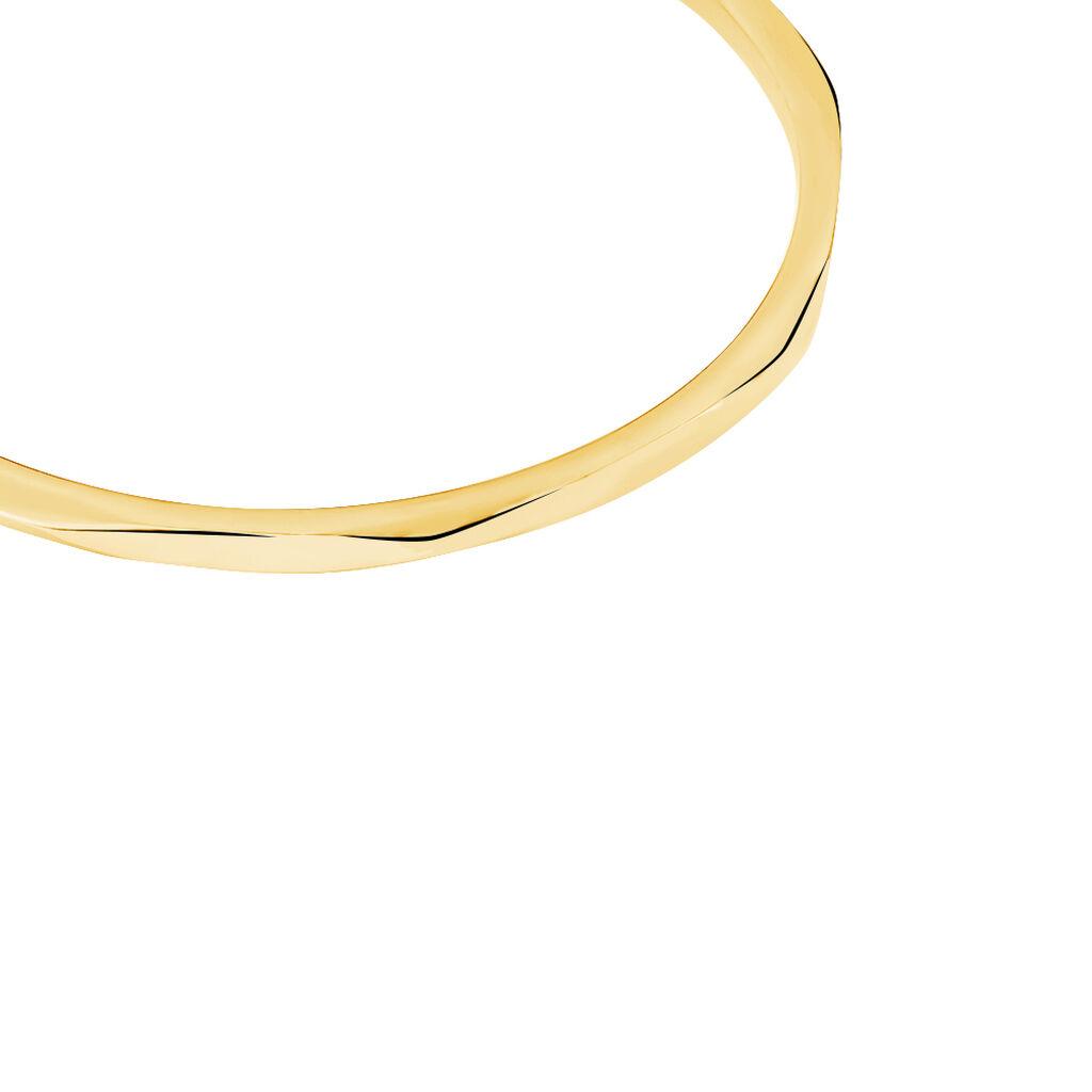 Bracelet Jonc Livya Acier Jaune - Bracelets fantaisie Femme | Histoire d'Or