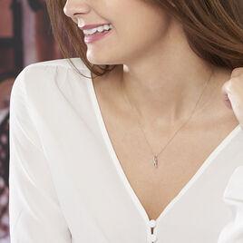 Collier Helene Or Bicolore Diamant - Bijoux Femme | Histoire d'Or