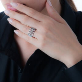 Bague Addison Or Blanc Diamant - Bagues avec pierre Femme | Histoire d'Or