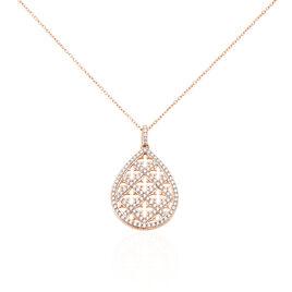 Collier Aliette Or Rose Oxyde De Zirconium - Bijoux Femme | Histoire d'Or