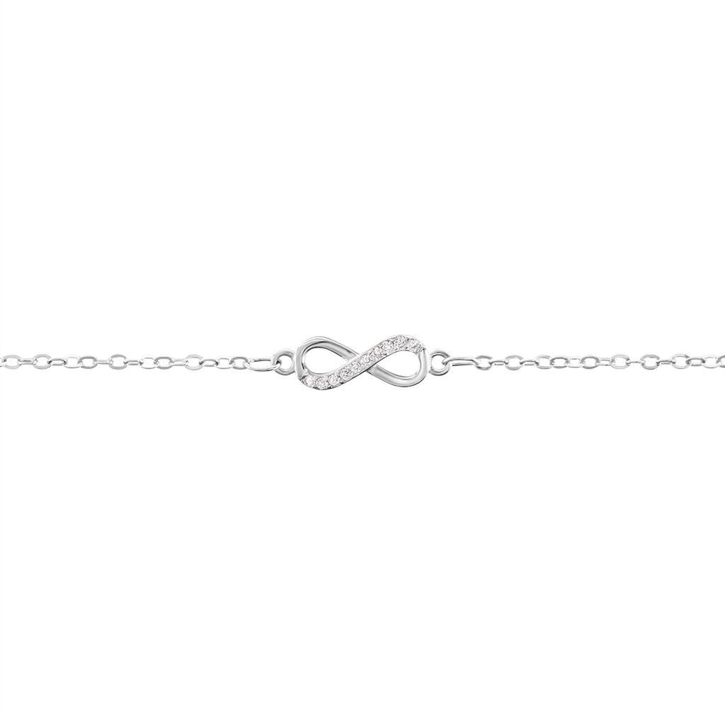 Bracelet Immortelle Argent Blanc Oxyde De Zirconium - Bracelets Infini Femme | Histoire d'Or