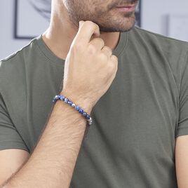 Bracelet Adonis Acier Blanc Pierre De Synthese - Bracelets fantaisie Homme | Histoire d'Or