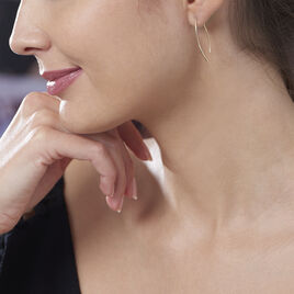 Créoles Helle Amande Or Jaune - Boucles d'oreilles créoles Femme | Histoire d'Or