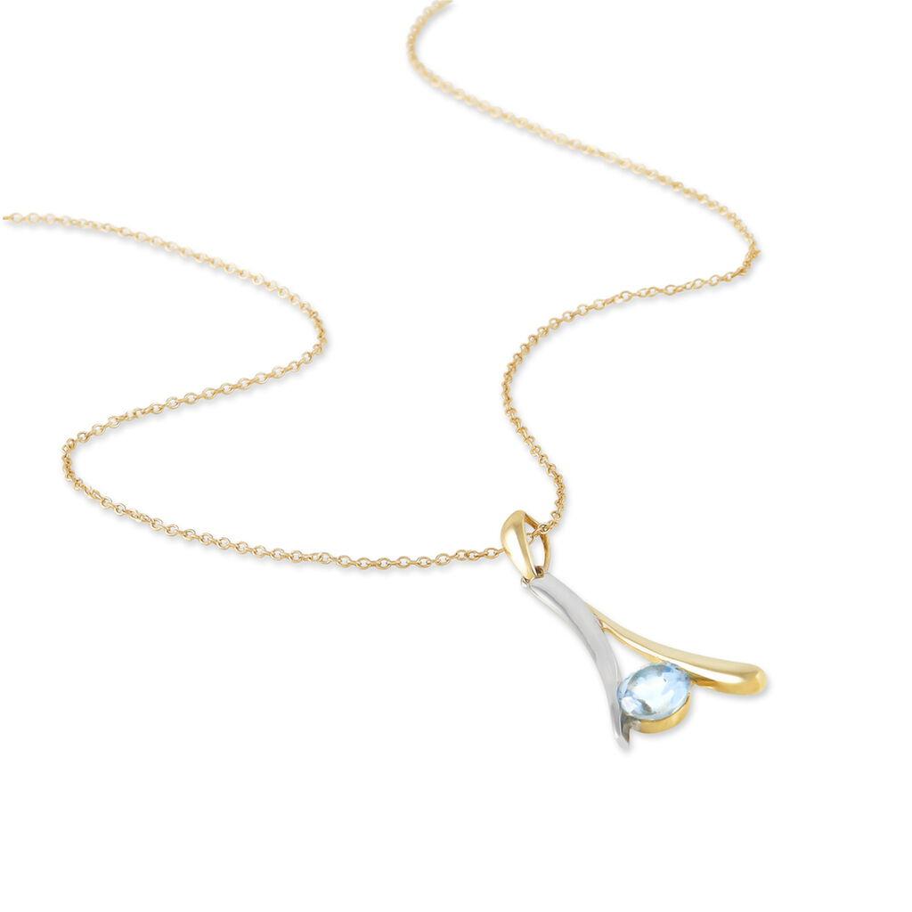 Collier Madli Or Bicolore Topaze - Bijoux Femme | Histoire d'Or