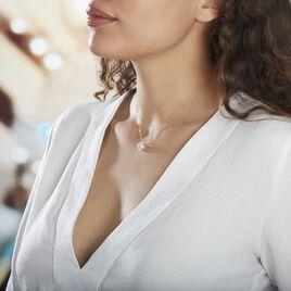 Collier Or Jaune Ludmille Oxyde De Zirconium - Colliers Coeur Femme   Histoire d'Or