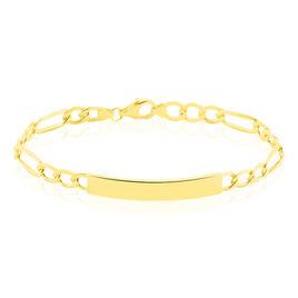 Bracelet Identité Tiha Or Jaune - Gourmettes Unisexe   Histoire d'Or