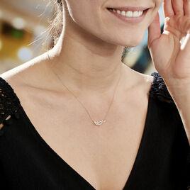 Collier Alexine Or Jaune Oxyde De Zirconium - Colliers Plume Femme | Histoire d'Or