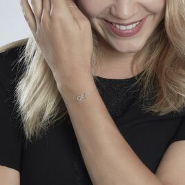 Bracelet Irmela Or Blanc Diamant - Bracelets Infini Femme   Histoire d'Or