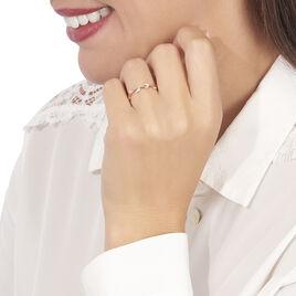 Bague Emlyne Or Rose Diamant - Bagues avec pierre Femme | Histoire d'Or