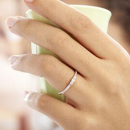 Bague Sabine Or Blanc Diamant - Bagues avec pierre Femme   Histoire d'Or