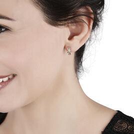 Boucles D'oreilles Puces Soukayna Or Bicolore Diamant - Clous d'oreilles Femme | Histoire d'Or