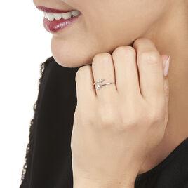 Bague Cupidon Or Blanc Diamant - Bagues avec pierre Femme   Histoire d'Or
