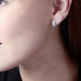 Boucles D'oreilles Puces Charlotte Or Blanc Diamant - Clous d'oreilles Femme   Histoire d'Or