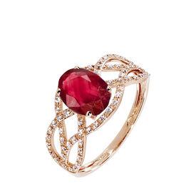 Bague Tina Or Rose Rubis Et Diamant - Bagues avec pierre Femme | Histoire d'Or