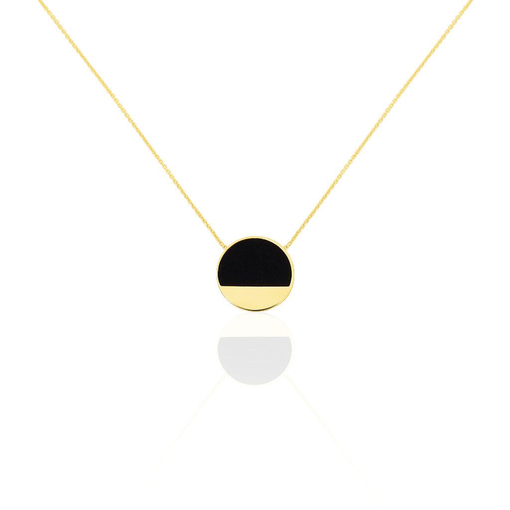 Collier Guenia Or Jaune Onyx - Bijoux Femme | Histoire d'Or
