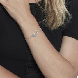 Bracelet Enoah Argent Blanc - Bracelets Coeur Femme | Histoire d'Or