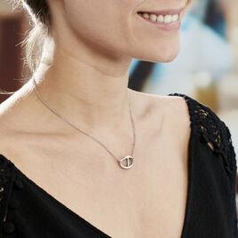 Collier Abdon Argent Blanc - Colliers doubles et triples chaînes Femme   Histoire d'Or