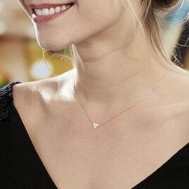 Collier Trilia Argent Blanc - Colliers fantaisie Femme | Histoire d'Or