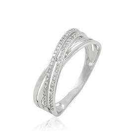 Bague Julianne Or Blanc Diamant Divers - Bagues avec pierre Femme | Histoire d'Or
