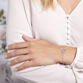 Bracelet Argent Rhodie Plantain Oxydes De Zirconium - Bracelets fantaisie Femme | Histoire d'Or
