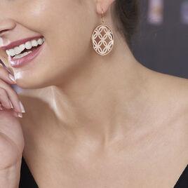 Boucles D'oreilles Pendantes Danyl Acier Rose - Boucles d'oreilles fantaisie Femme   Histoire d'Or