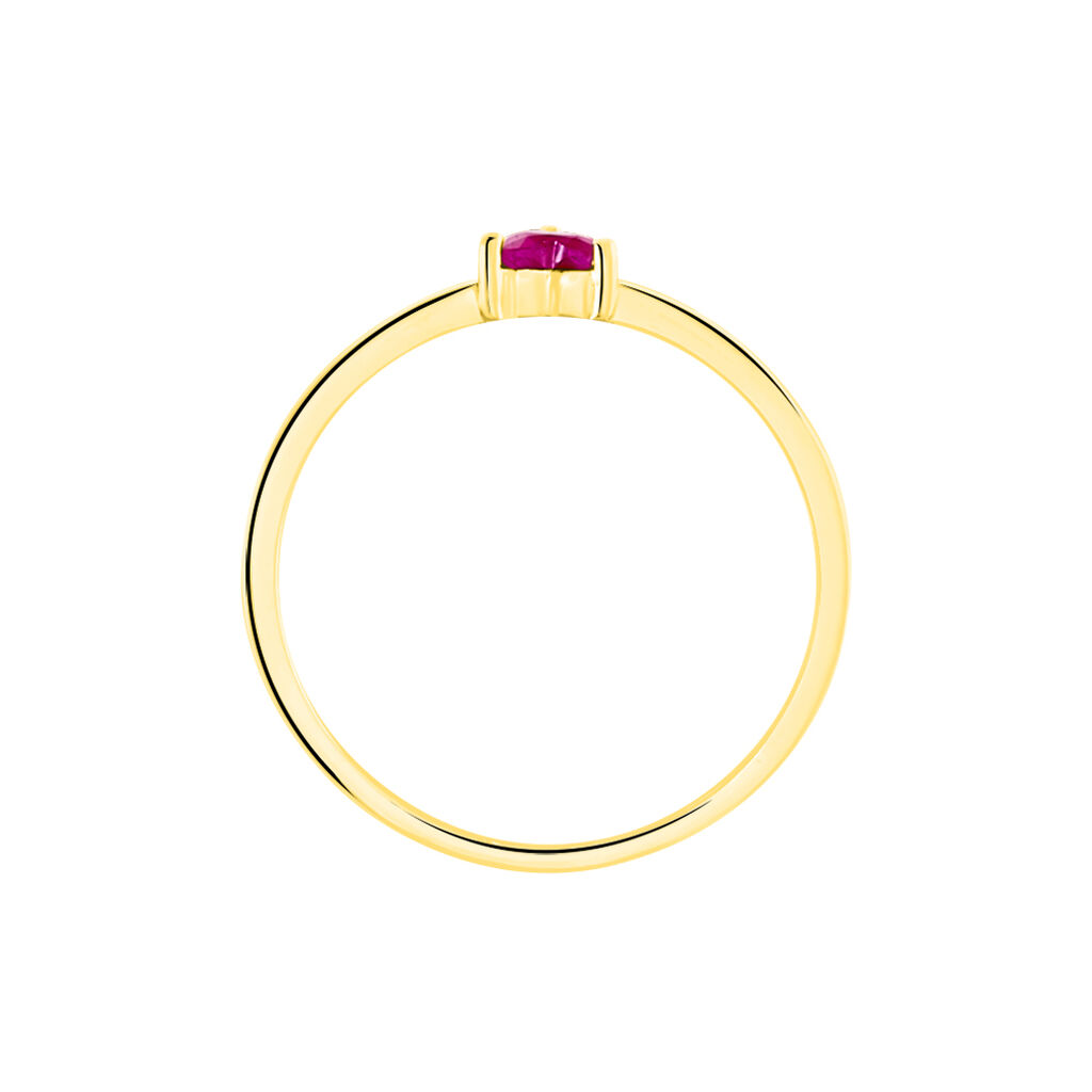 Bague Lissounia Or Jaune Rubis