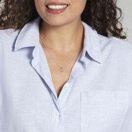 Pendentif Miyah Or Blanc Topaze - Pendentifs Coeur Femme | Histoire d'Or