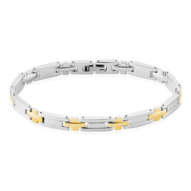 Bracelet Pierre Acier Bicolore - Bijoux Homme | Histoire d'Or