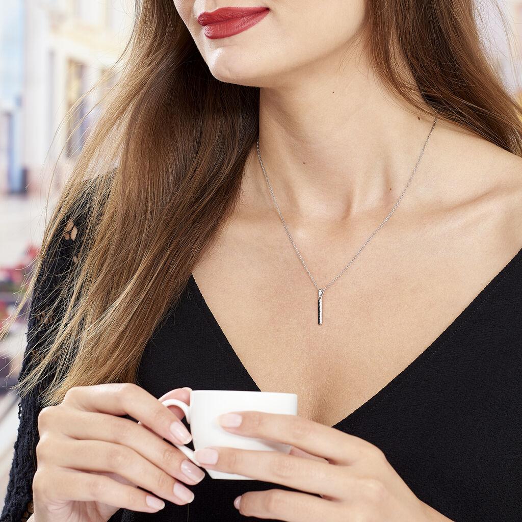 Collier Amata Argent Blanc Oxyde De Zirconium - Colliers fantaisie Femme   Histoire d'Or