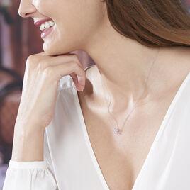 Collier Kesia Or Blanc Oxyde De Zirconium - Colliers Papillon Femme | Histoire d'Or