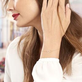 Bracelet Eleno Or Bicolore - Bracelets Coeur Femme   Histoire d'Or