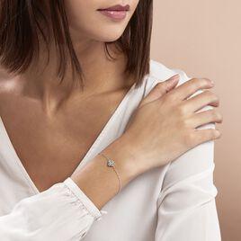 Bracelet Mailys Argent Blanc Oxyde De Zirconium - Bracelets fantaisie Femme   Histoire d'Or