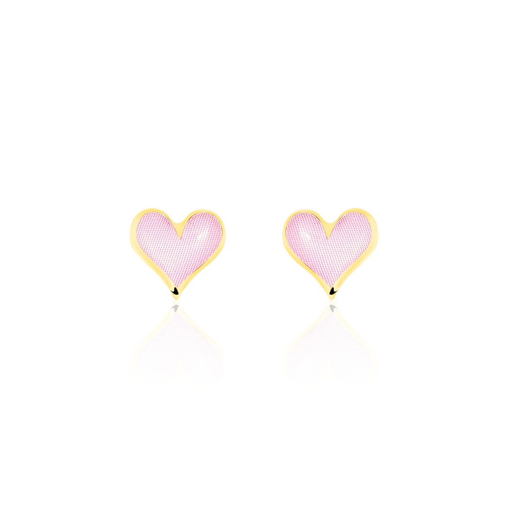 Boucles D'oreilles Puces Neline Or Jaune - Boucles d'Oreilles Coeur Femme | Histoire d'Or