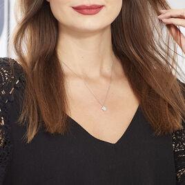 Collier Lorraine Argent Blanc Oxyde De Zirconium - Colliers fantaisie Femme | Histoire d'Or