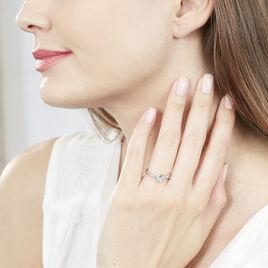 Bague Clothilde Or Blanc Topaze Et Diamant - Bagues Coeur Femme   Histoire d'Or