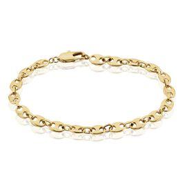 Bracelet William Maille Grain De Cafe Plaque Or Jaune - Bracelets chaîne Homme | Histoire d'Or